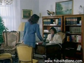 italian brunette is in for trio office sex and