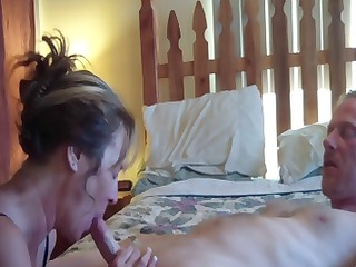 brunette hair jane eats his cock, acquires licked