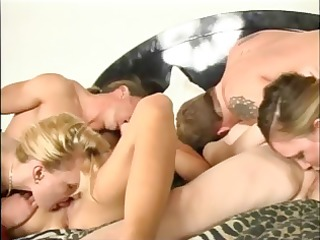 two sexy lesbo strumpets take up with the tongue