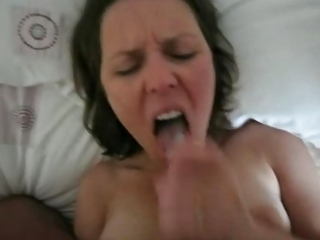 hot wife swallow her mans load