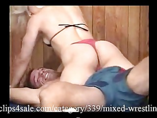 Great Mixed Wrestling Action at clips4sale.com