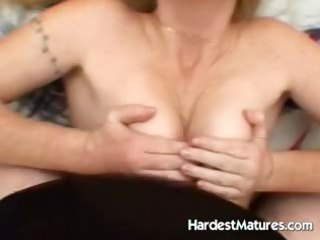 aged tits creamed