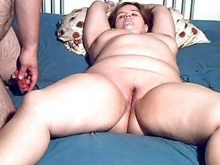 chubby amateur milf toyed and oral job with facial