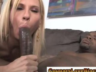 older couger interracial fuck and facial