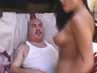 cuckold wife fucks one more man to shame her boy