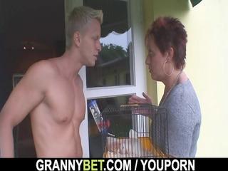 hawt lad screws neighbor granny